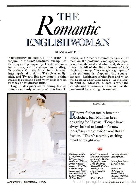 April 1983: The Romantic Englishwoman