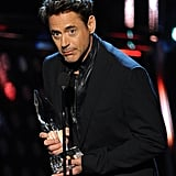 Robert Downey Jr. made sure everyone knew that the People's Choice Awards were all about him.