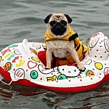 Floating is even more fun on a Hello Kitty raft!