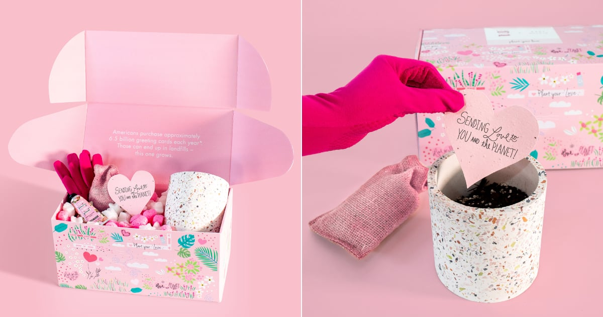 This Eco-Friendly Valentine's Day Kit Includes a Plantable Card That Grows Into Wildflowers