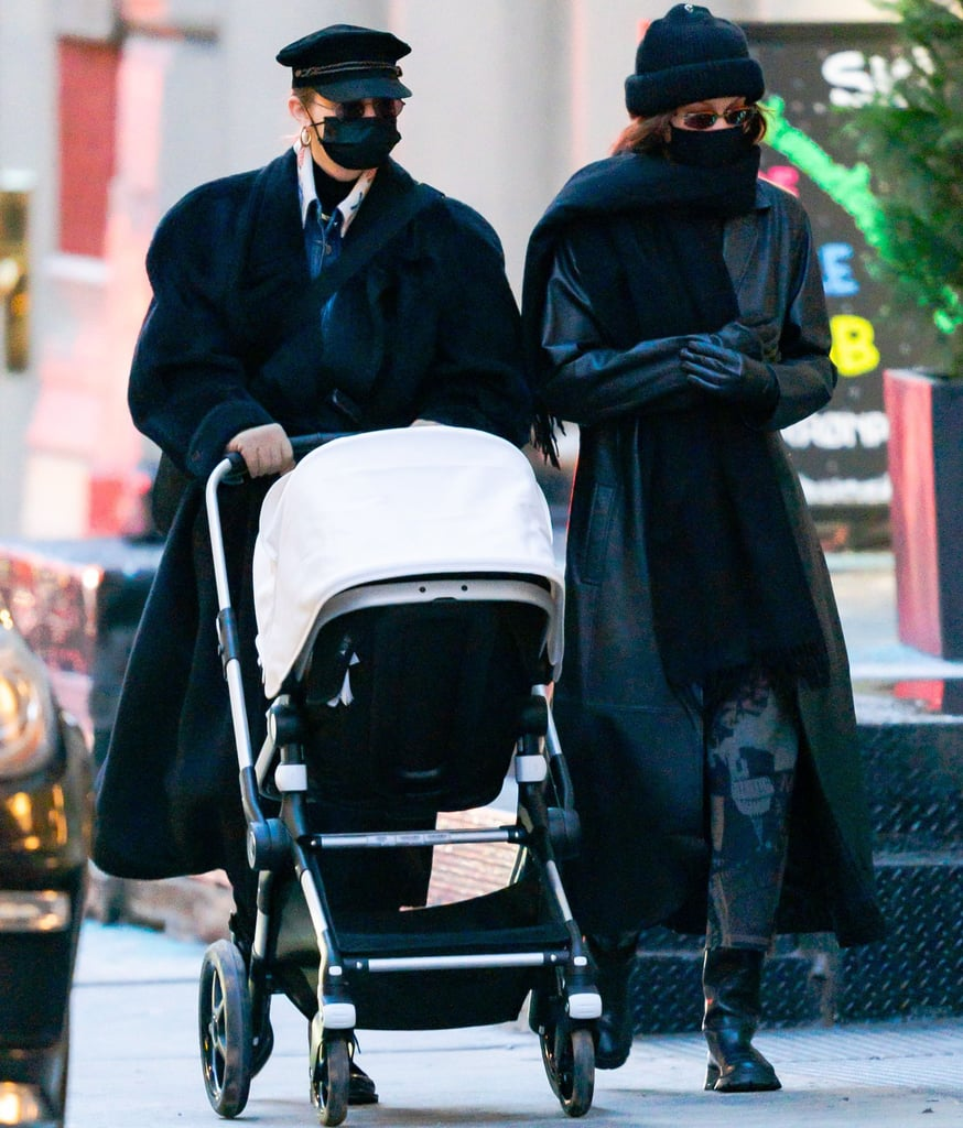 Gigi and Bella Hadid Take Gigi's Daughter For a Walk in NYC