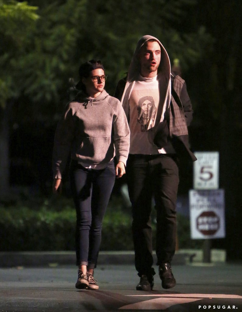 Robert Pattinson and Kristen Stewart were one on one for a date in LA on Friday evening. The two wore matching gray hoodies and stopped off at a corner store for some treats. Rob and Kristen have been inseparable since he returned from shooting The Rover in Australia last week. The Twilight costars and real-life loves posed with a fan outside a karaoke bar earlier in the week and attended a birthday party for Katy Perry's assistant. On Saturday it was a girls' night out for Kristen, who hung out with Katy and Selena Gomez at the Kids' Choice Awards. Kristen showed off her legs in a sexy shorts ensemble at the event, but that didn't save her — Kristen got covered in slime during the show! Source: X17Online