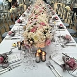 "The bride's mom, Kathy Hilton, helped create the enchanting setting. Nicky's dad, Rick Hilton, recognized her work on Instagram, writing, ""@kathyhilton did an amazing job with wedding flowers!"""