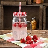 The Pioneer Woman 32-Ounce Clear Mason Jar, Red Straw ($5)