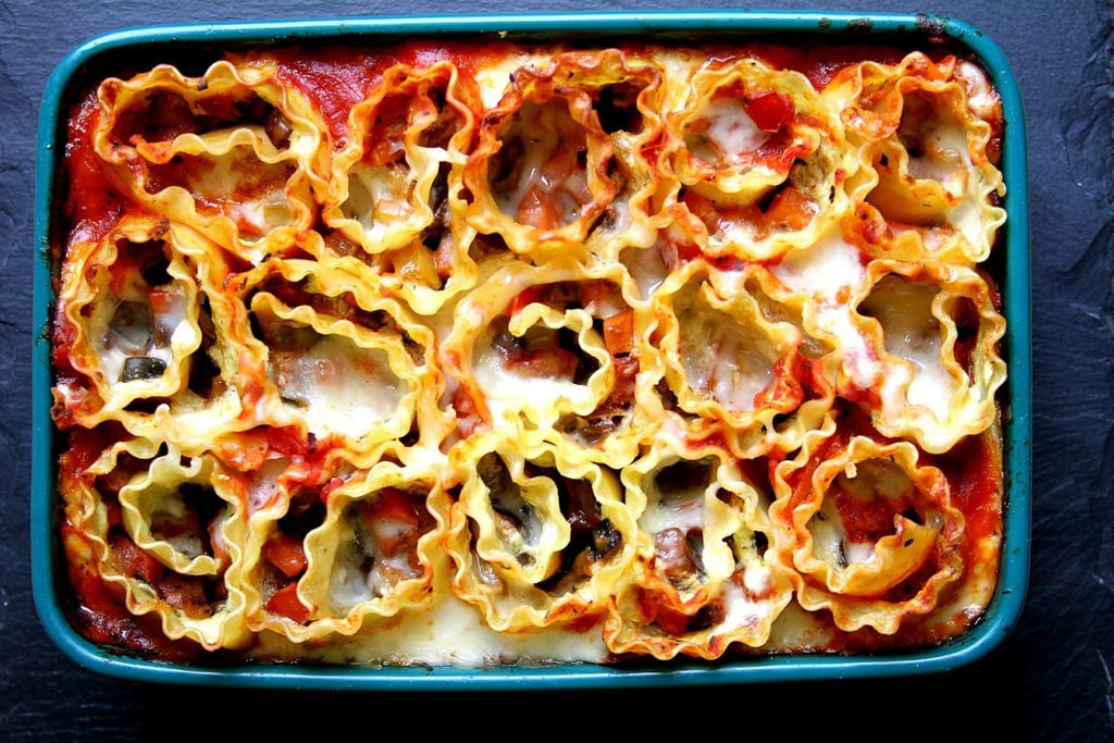 Vegetable Lasagna Roll-Up Casserole