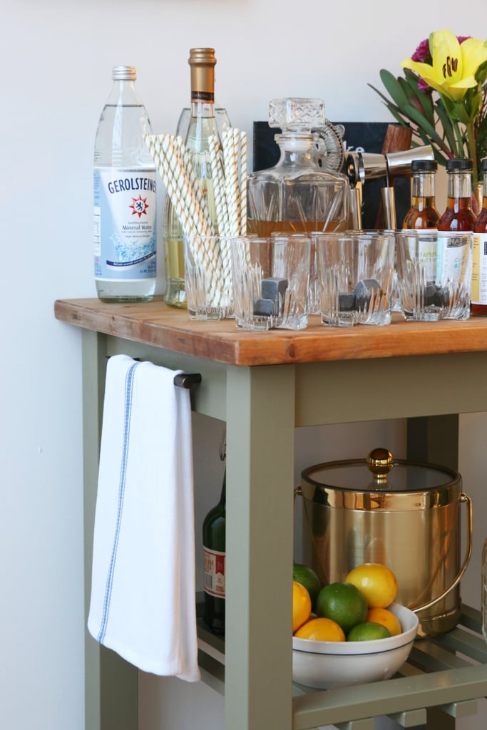 Ikea Kitchen Bar Cart Hack POPSUGAR Home - Howard Butcher Block Oil