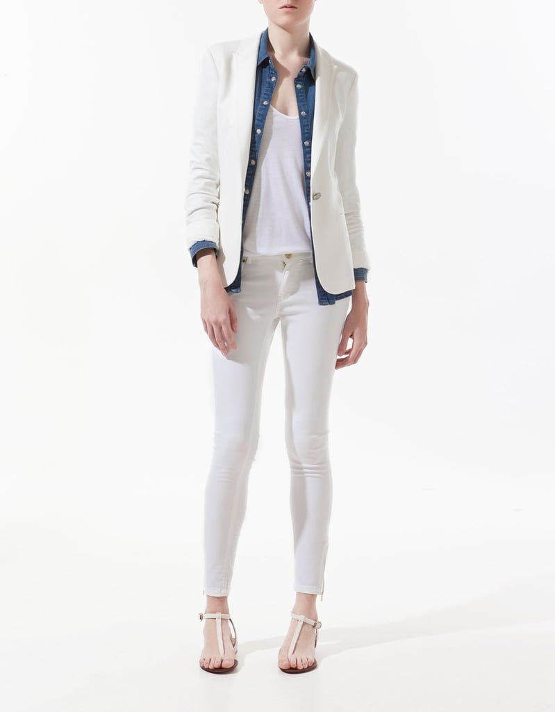 The perfect white blazer to throw on at the office or over an LBD for evening.