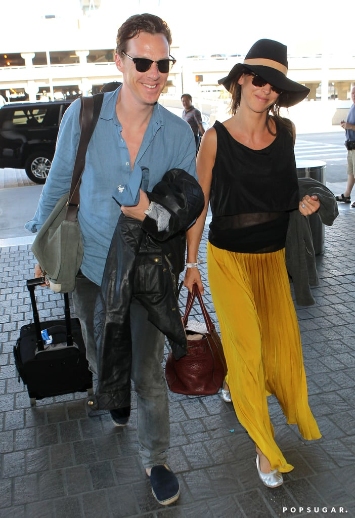 benedict cumberbatch and sophie hunter after their