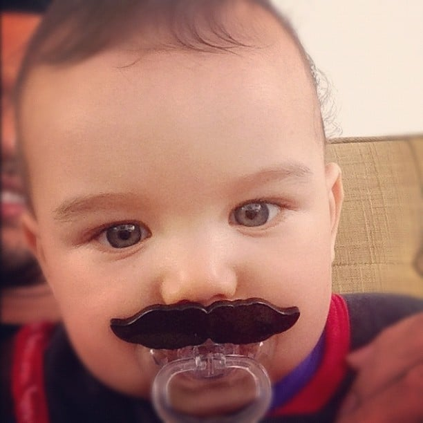 Guy Sebastian's son Hudson got into Movember in the most adorable way! Source: Instagram user guysebastian