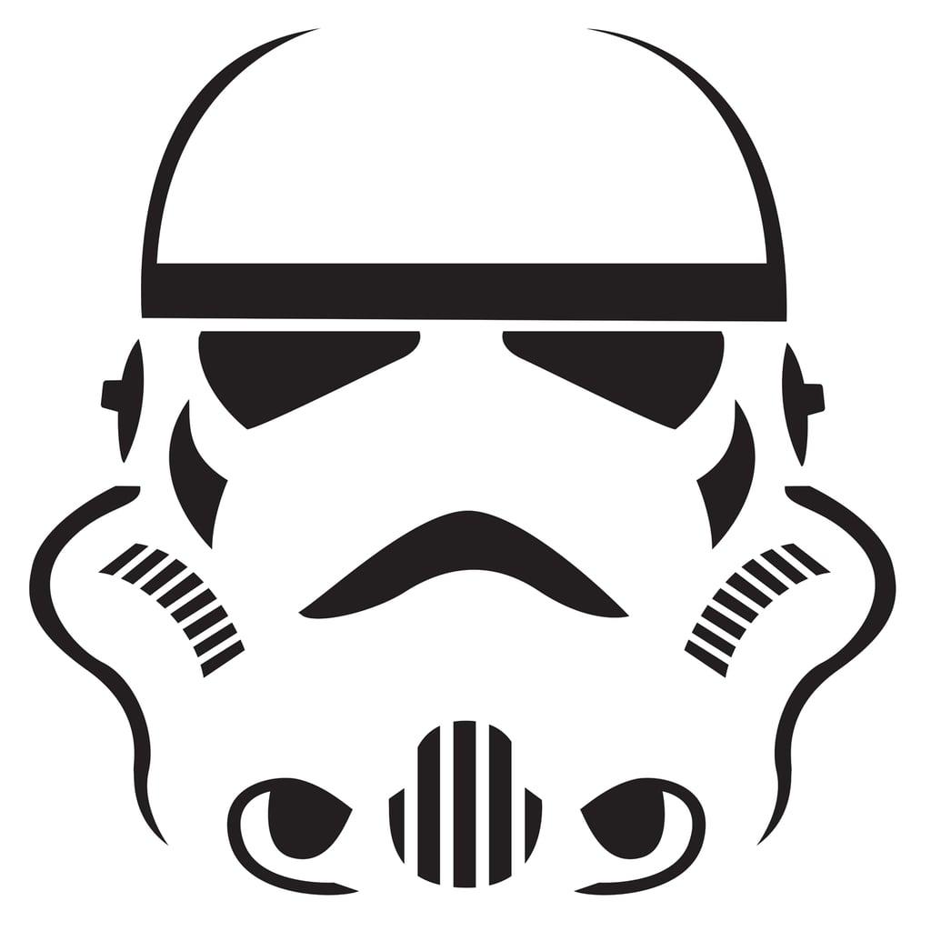 Stormtrooper Pumpkin Template