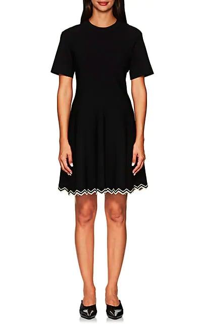 Proenza Schouler Compact-Knit Flounce Dress