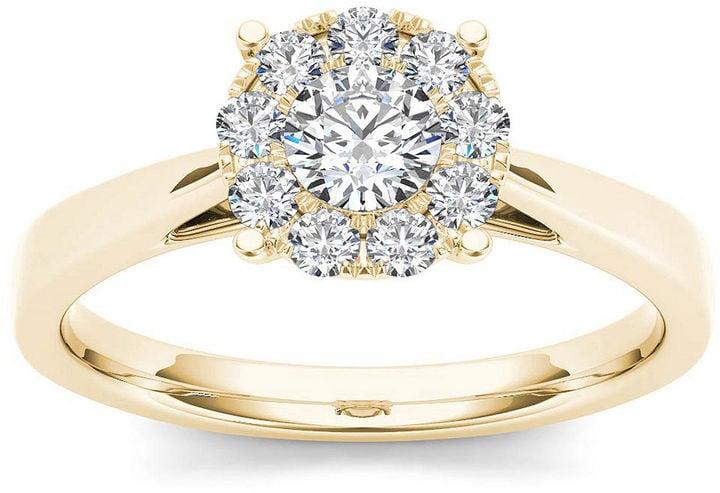 Modern Bride Diamond Ring Michelle Williams Engagement