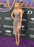 Scarlett Johansson's Thigh-High Slit Dress Has a Sheer Back That Puts Her Tattoos on Full Display