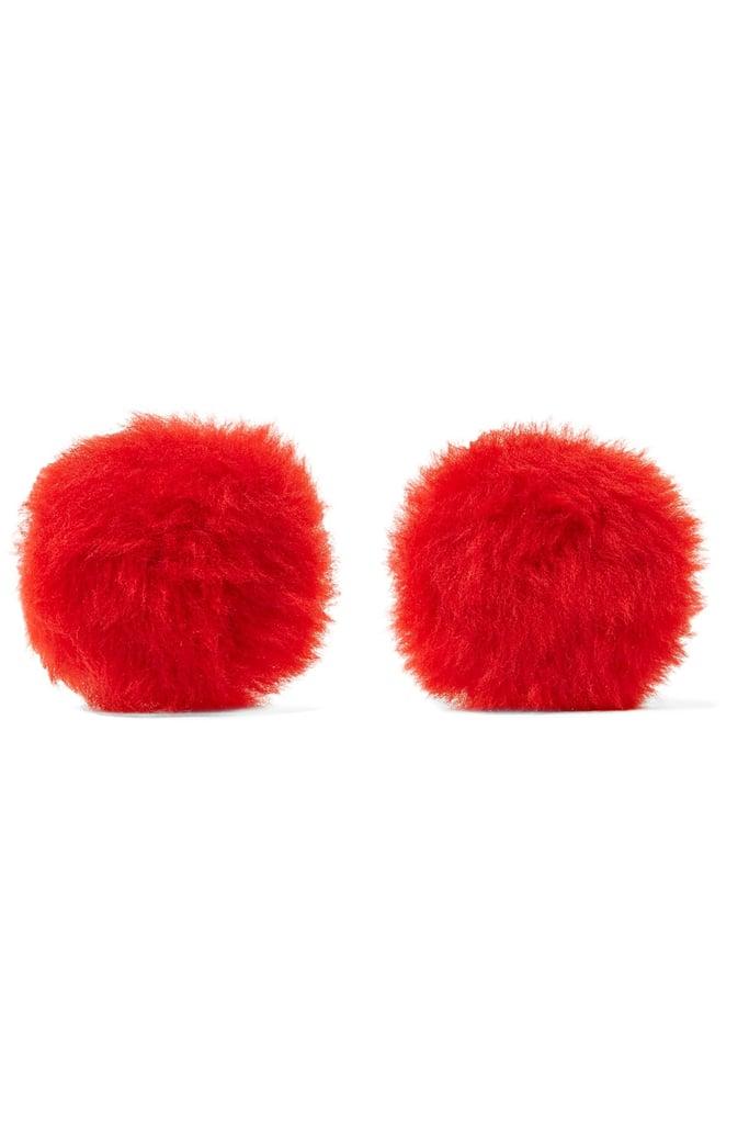 Balenciaga Shearling Earrings ($375)
