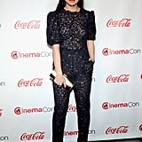 Hailee Steinfeld led the style pack at CinemaCon in a lacy jumpsuit and metallic heels.