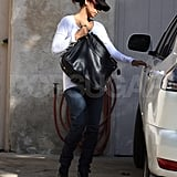 Halle Leaving Her Friends House