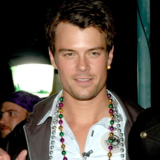 Josh Duhamel showed off his beads in New Orleans in February 2006.