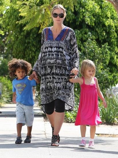 Heidi Klum takes her kids to karate class