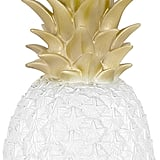 This lamp is a dream for anyone who cares about keeping their white and gold home decor pristine. Goodnight Light - Pineapple Lamp - White/Gold ($110)