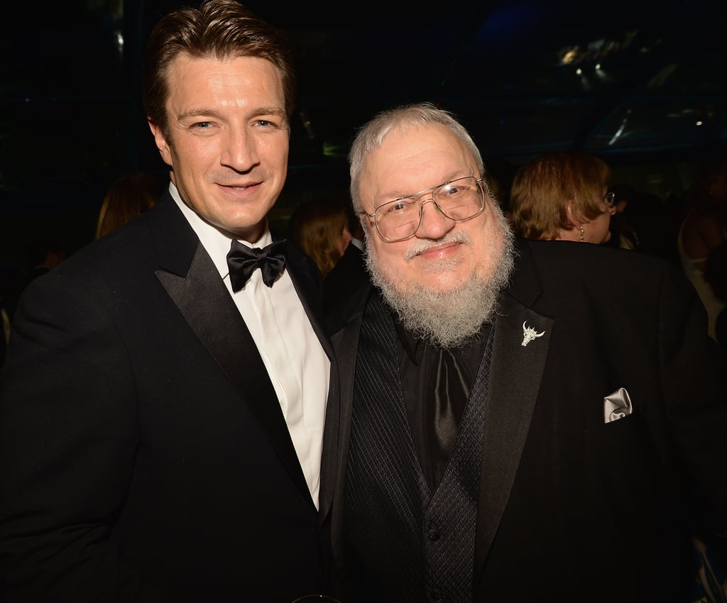 Nathan Fillion and George R. R. Martin shared a moment at HBO's after party.