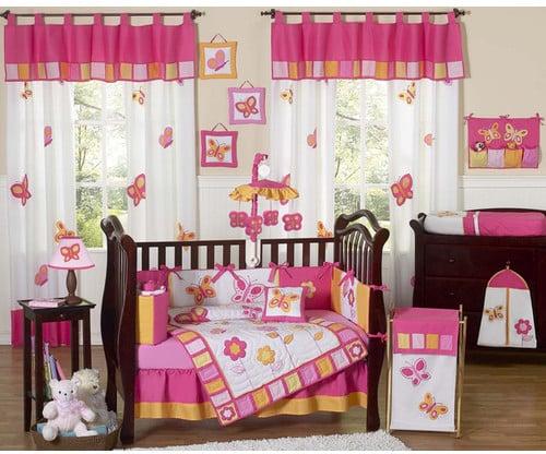 JoJo Designs Sweet Butterfly Crib Bedding Set