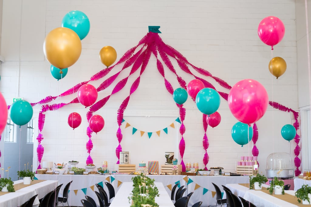 Crepe Paper Big Top | A Circus First Birthday Party and ...