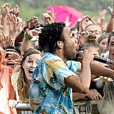 Donald Glover got up close and personal with fans in 2014.