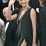 Charlize Theron showed some serious leg at The Life and Death of Peter Sellers premiere in 2004.