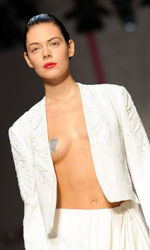 Heart Nipple Pasties at Lindsay Lohan's Emanuel Ungaro Spring Collection