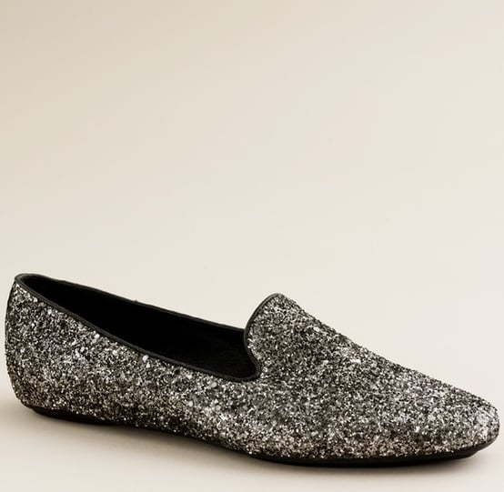 J.Crew Darby Glitter Loafers ($215)