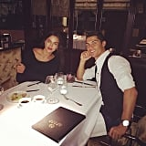Sharing a romantic dinner in Madrid in October last year.