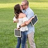Chalkboard Surprise Pregnancy Reveal