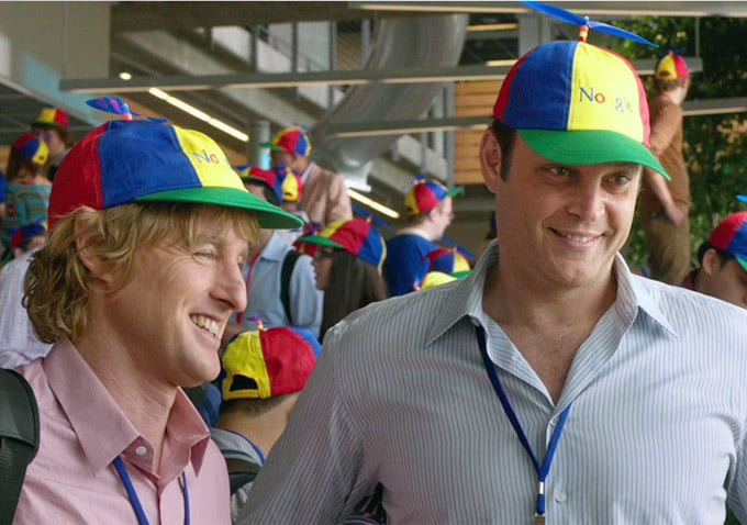 The Internship  Who's starring: Owen Wilson and Vince Vaughn Why we're interested: Because we need to stop rewatching Wedding Crashers. But seriously, Wilson and Vaughn have such great comedic chemistry, and it's high time they re-create it, this time as interns at Google. When it opens: June 7   Watch the trailer for The Internship.