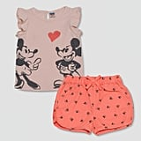 Junk Food Toddler Girls' Disney Mickey Mouse Top and Bottoms Set ($20)