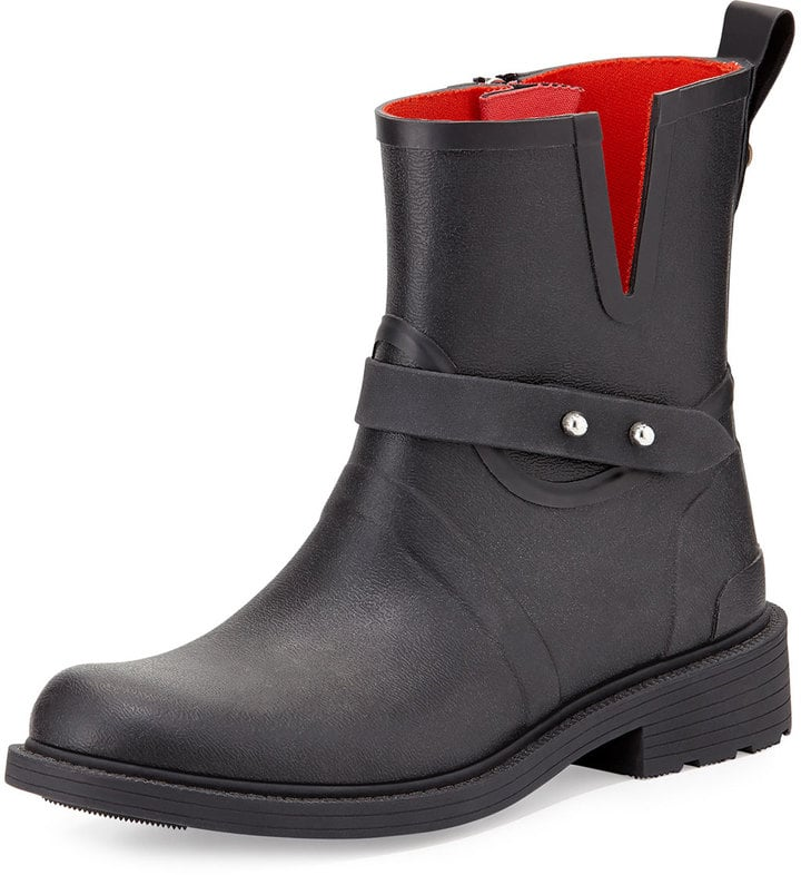 Rag & Bone Moto Rubber Rain Boot ($225)