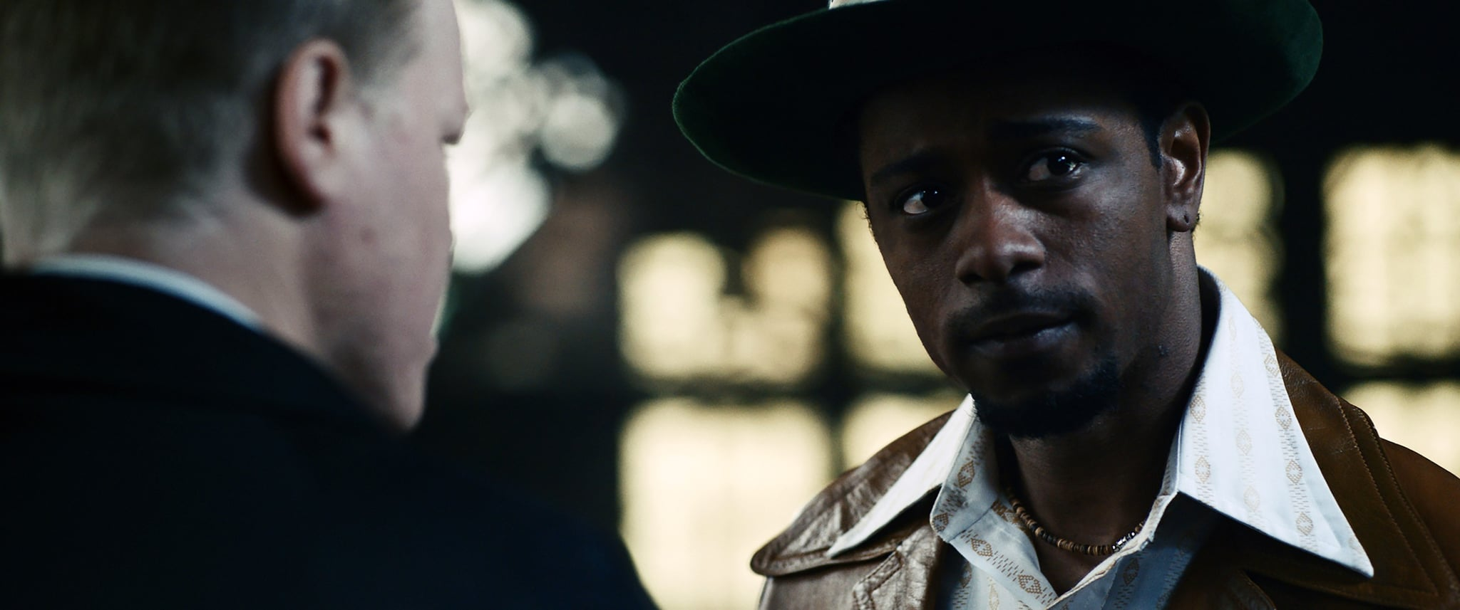 JUDAS AND THE BLACK MESSIAH, from left: Jesse Plemons, LaKeith Stanfield, as William O'Neal, 2021.   Warner Bros. / Courtesy Everett Collection