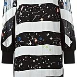 Tsumori space print striped dress