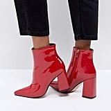 Public Desire Empire Block-Heeled Ankle Boots