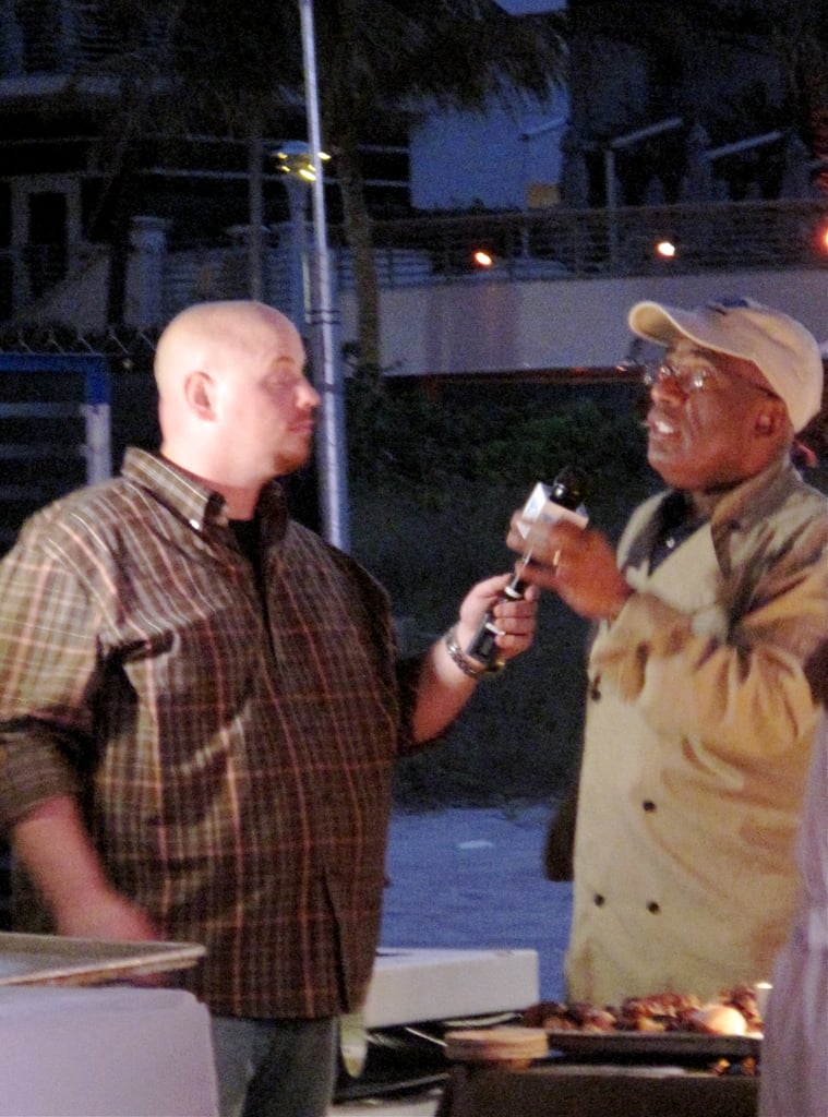 The tables were turned at BubbleQ, where Al Roker was being interviewed at sunset by someone else.