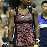 Serena Williams Wearing a Printed Dress at the US Open in 2015