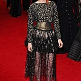 At the Met Gala in 2014, Kristen channeled her signature edgy glamour in  a dramatic Chanel number.