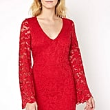Abbeline Bell Sleeve Lace Mini Dress