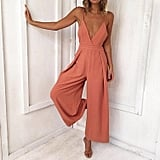 Gloous Deep V Jumpsuit