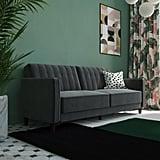 DHP Pin Tufted Transitional Velvet Futon Couch