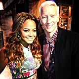 Meanwhile, The Voice's Christina Milian posed with Anderson Cooper. Source: Instagram user christinamilian