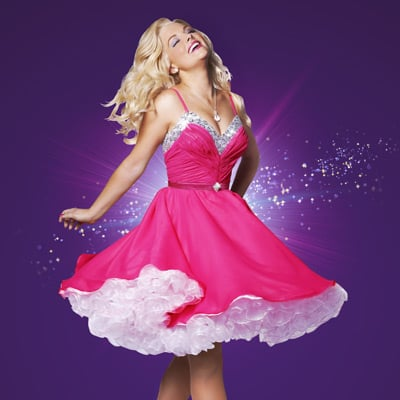 Legally Blonde The Musical Australian Cast: Lucy Durack as Elle Woods, Rob Mills as Warner