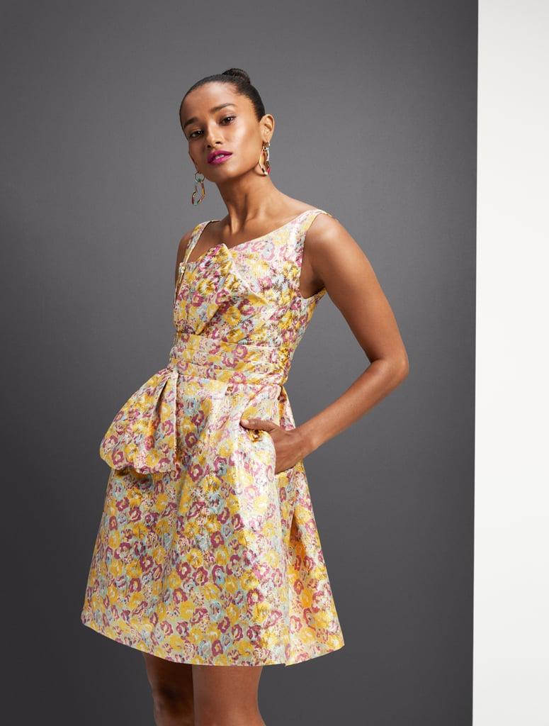Zac Posen for Target Women's Floral Print Sleeveless Brocade Mini Dress in Yellow/Pink