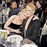 Nicole Kidman and Charlize Theron at the 2020 Critics' Choice Awards