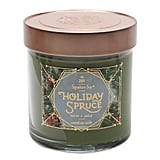 Holiday Spruce Glass Jar Candle