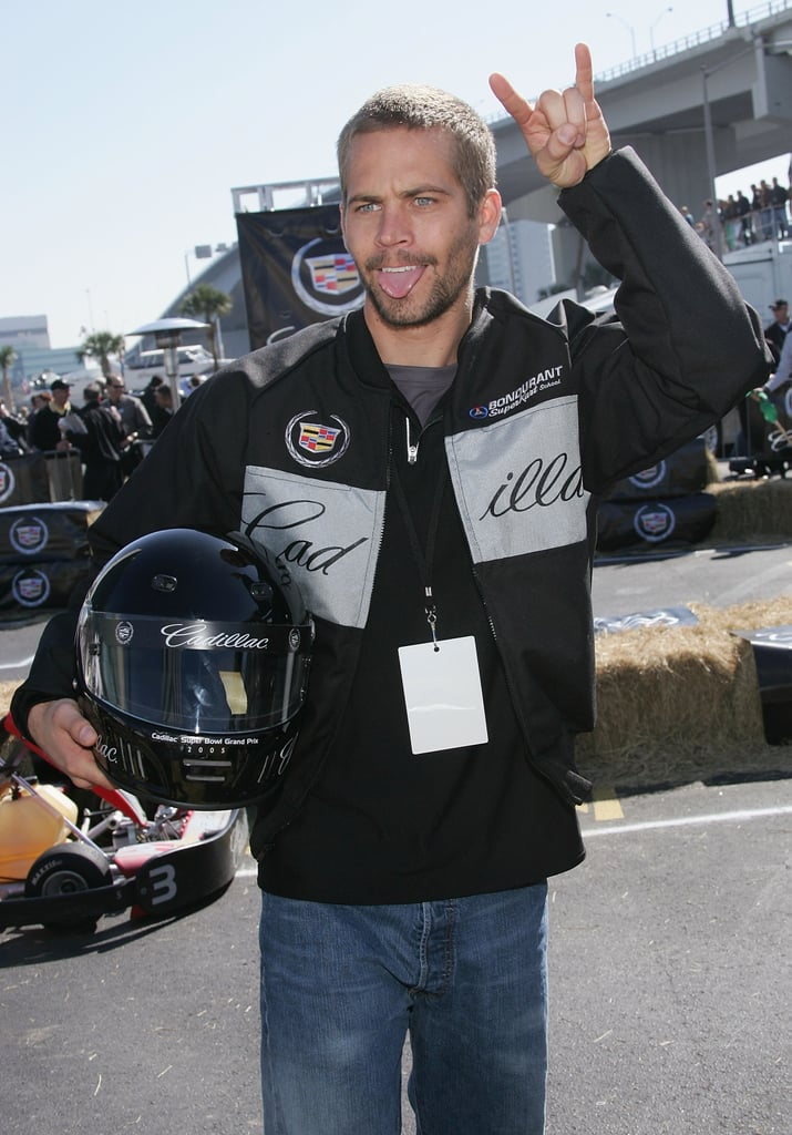 Paul Walker raced in the Cadillac Super Bowl Grand Prix in Florida back in February 2005.